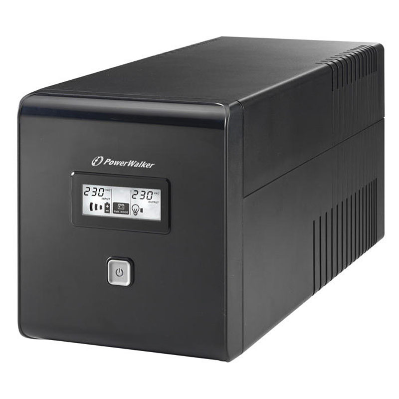 UPS line interactiv Powerwalker, iesire 2 x Shuko, baterie 2 x 12 V/7 Ah, 1000 VA, 600 W shopu.ro