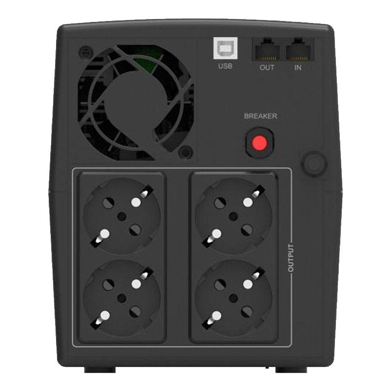 UPS line interactiv Powerwalker, afisaj LCD, baterie 2 x 12 V / 9 Ah, 2200 VA, 1320 W