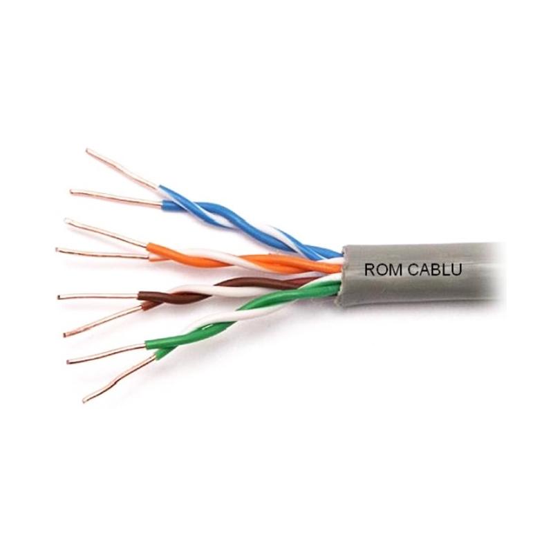 Cablu UTP CAT5E Genway, cupru masiv, 305 m 2021 shopu.ro