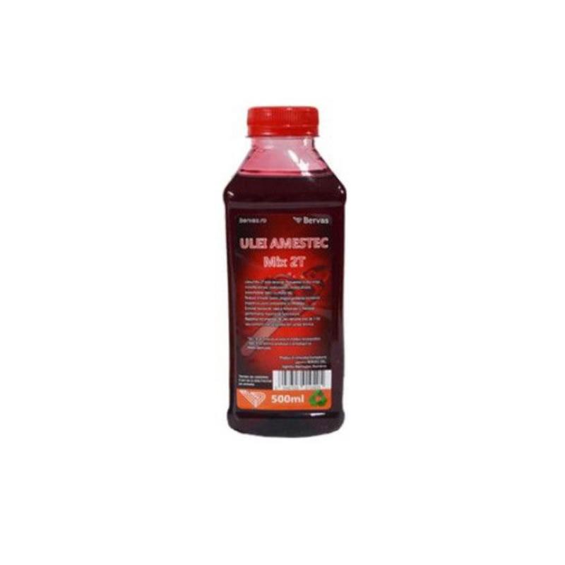Ulei amestec Bervas 2T, 500 ml, rosu