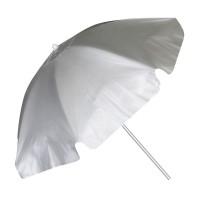 Umbrela pentru plaja, 2 m, model buline, Argintiu