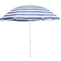 Umbrela pentru terasa WH002-2, rotunda structura metal, albastru