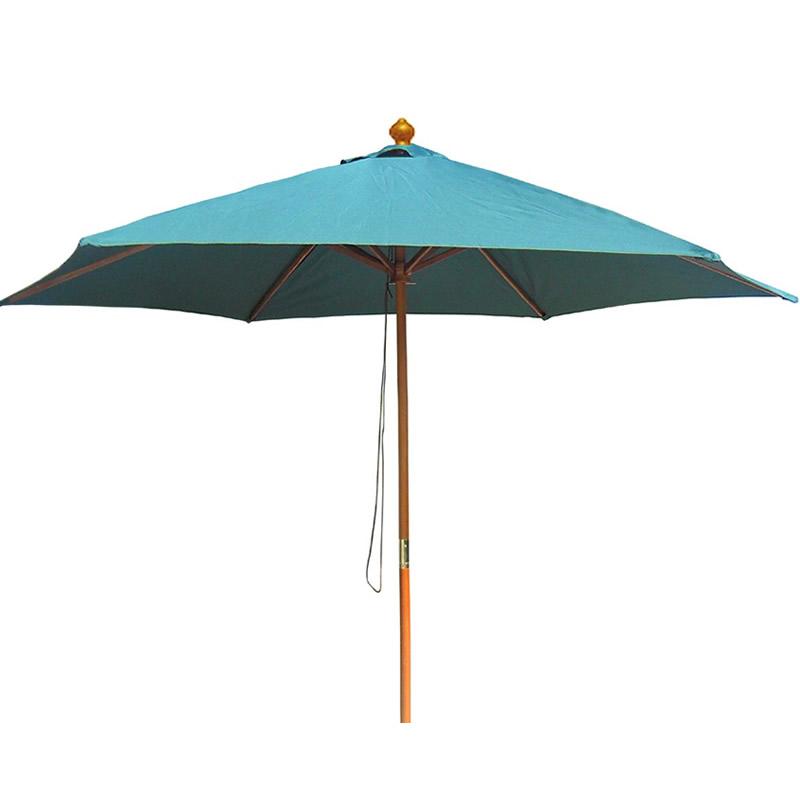 Umbrela pentru terasa WH6618, rotunda, structura lemn, D 300 cm, verde shopu.ro