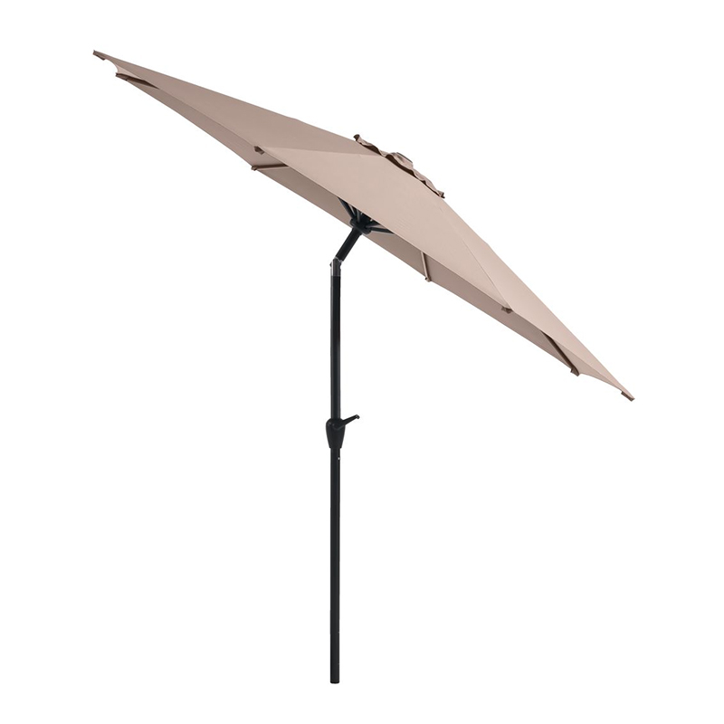 Umbrela de soare, 300 cm, poliester, picior aluminiu, functie de inclinare, Negru/Gri deschis shopu.ro