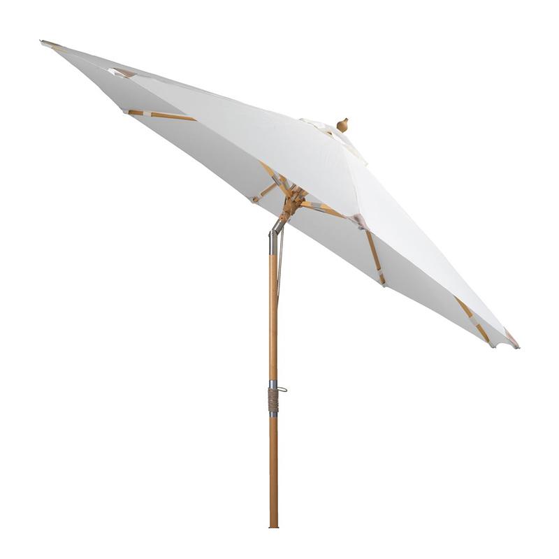 Umbrela de soare, 300 cm, poliester, picior lemn, functie de inclinare, Alb/Bej shopu.ro