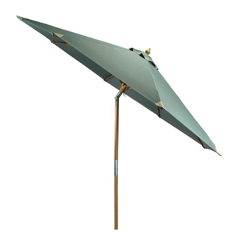 Umbrela de soare, 300 cm, poliester, picior lemn, functie de inclinare, Verde/Bej shopu.ro