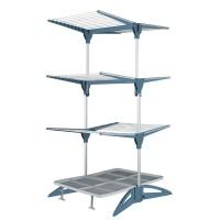 Uscator vertical de haine Maxi Navy Meliconi, 60 m, brate ajustabile, Alb/Albastru
