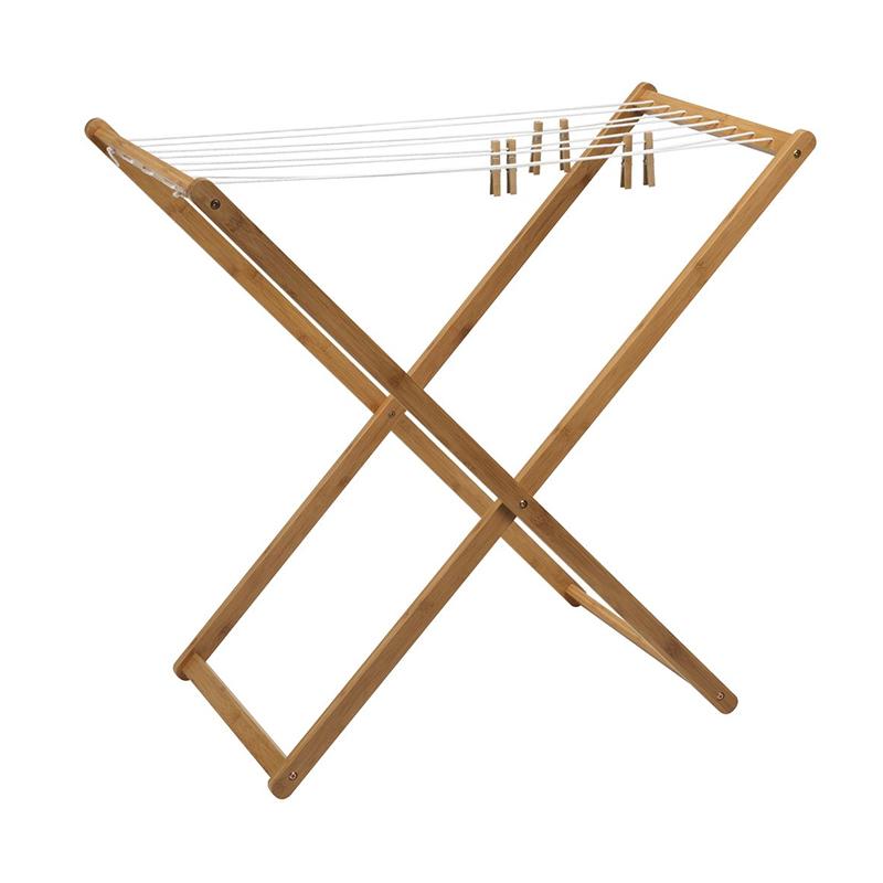 Uscator de rufe, 50 x 95 x 90 cm, bambus ailon, Maro shopu.ro