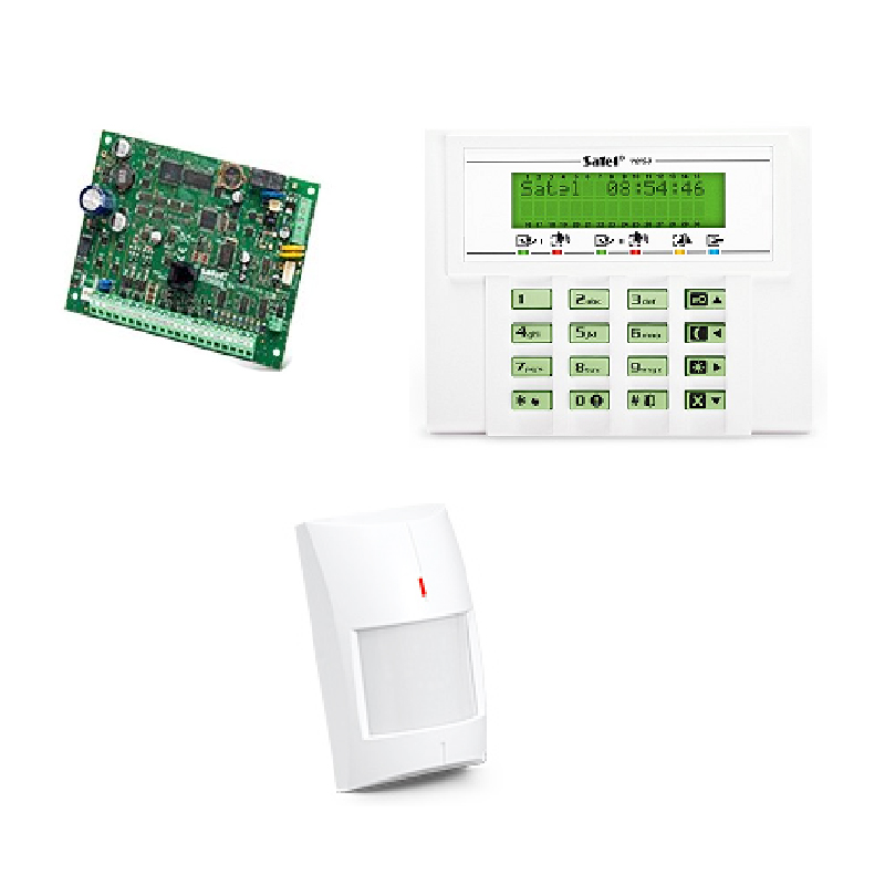 Kit sistem de alarma wireless cablat Satel, senzor PIR AMBER 2021 shopu.ro
