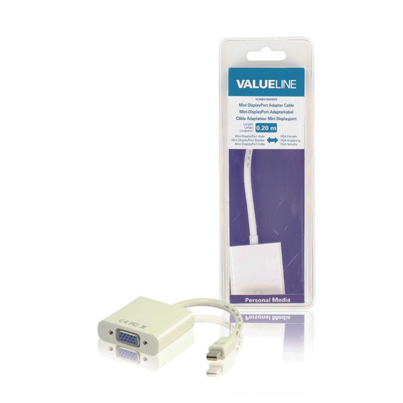 Adaptor mini Display Valueline, port VGA, Alb
