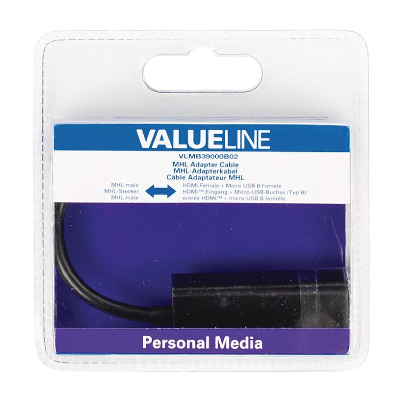 Adaptor MHL-HDMI Valueline, mufa micro USB, 20 cm