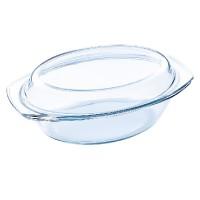 Vas oval yena Vabene, 1.5 l, capac inclus
