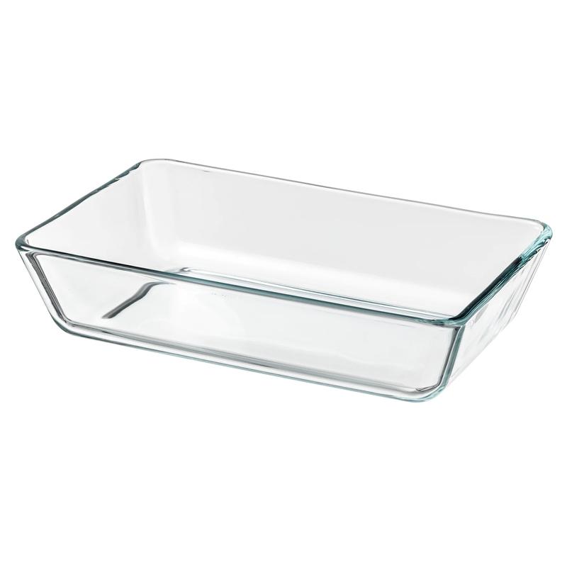 Vas sticla termorezistenta pentru cuptor, 27 x 18 cm, model dreptunghiular 2021 shopu.ro