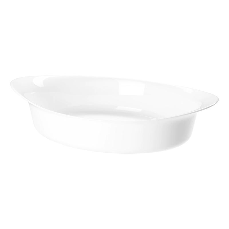 Vas sticla securizata pentru cuptor, 30 x 19 cm, model oval 2021 shopu.ro