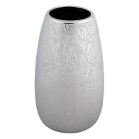 Vaza ceramica, 15 x 26.5 cm, Argintiu
