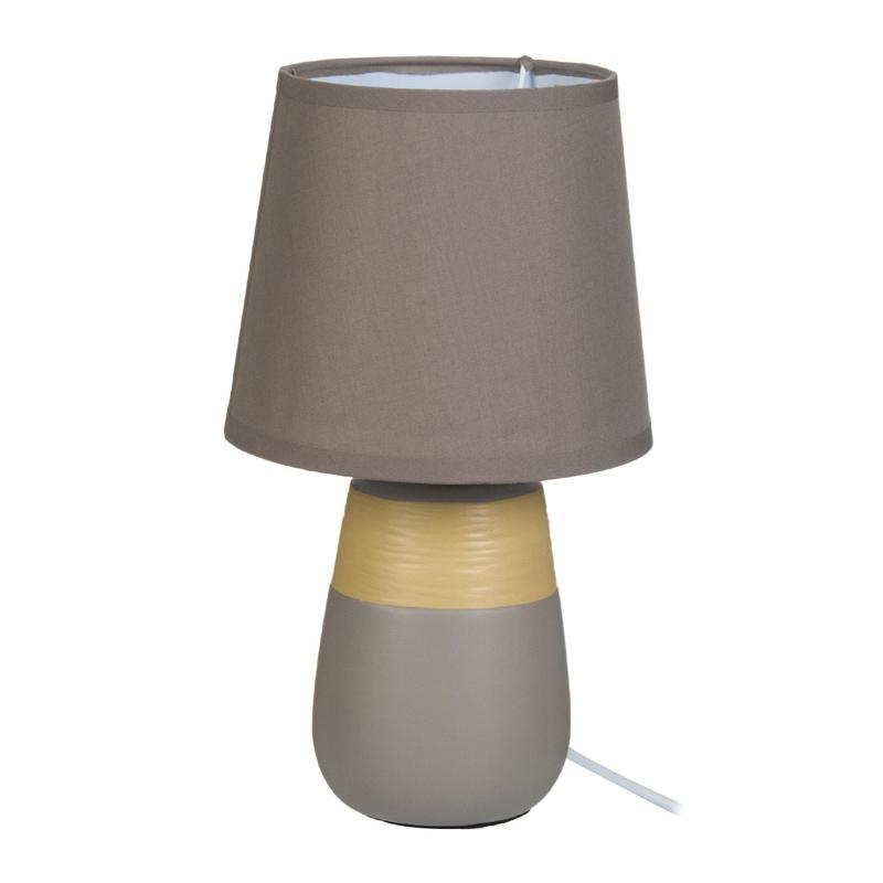 Veioza Ecru Beige, 29.5 cm, 40 W, ceramica/bumbac 2021 shopu.ro