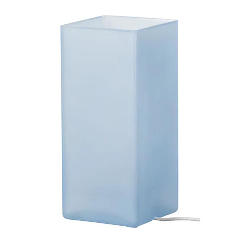 Veioza sticla, 6 W, 10 x 22 cm, lumina de atmosfera, Albastru shopu.ro