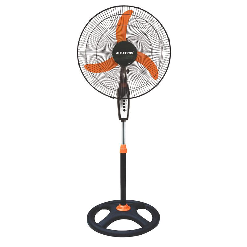 Ventilator cu picior Albatros, 60 W, 3 viteze, motor silentios, inaltime 130 cm, Negru/Portocaliu 2021 shopu.ro