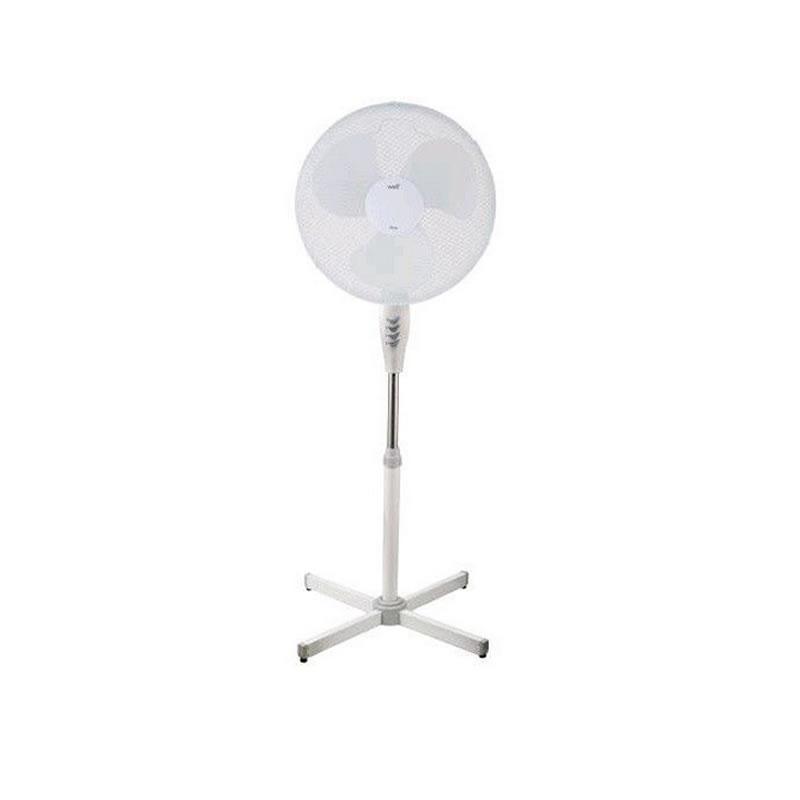 Ventilator cu picior Well, 45 W, 3 trepte, alb