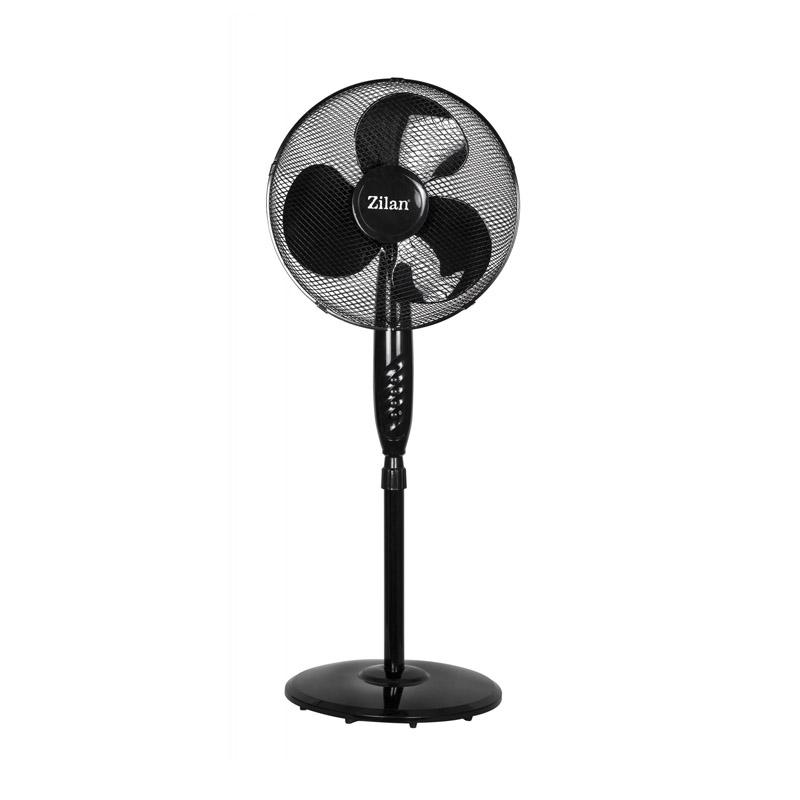 Ventilator cu picior Zilan, putere 50 W, diametru 41 cm, inaltime reglabila 2021 shopu.ro