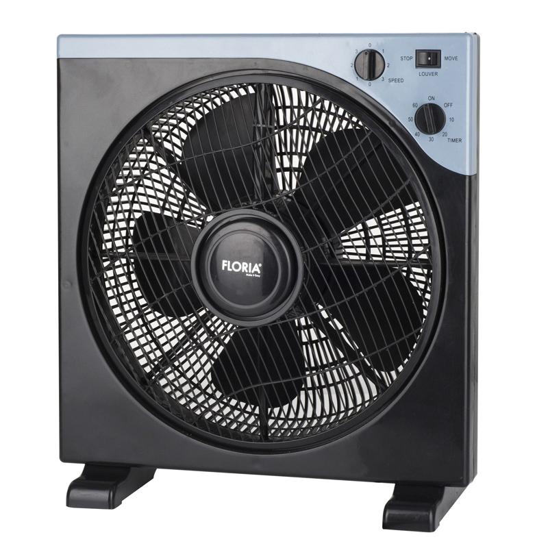 Ventilator patrat Floria, 40 W, timer, 3 trepte, unghi reglabil 2021 shopu.ro