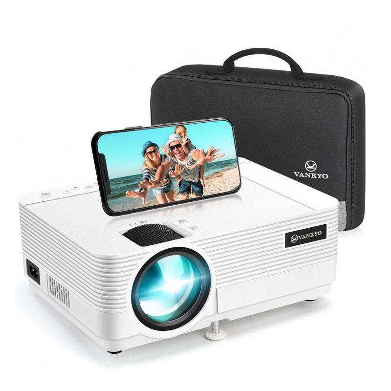 Videoproiector Vankyo Leisure 470, Wi-fi, 4000 Lumeni, LED, HDMI, AV, VGA, USB, SD, conectare telefon, geanta transport, telecomanda 2021 shopu.ro