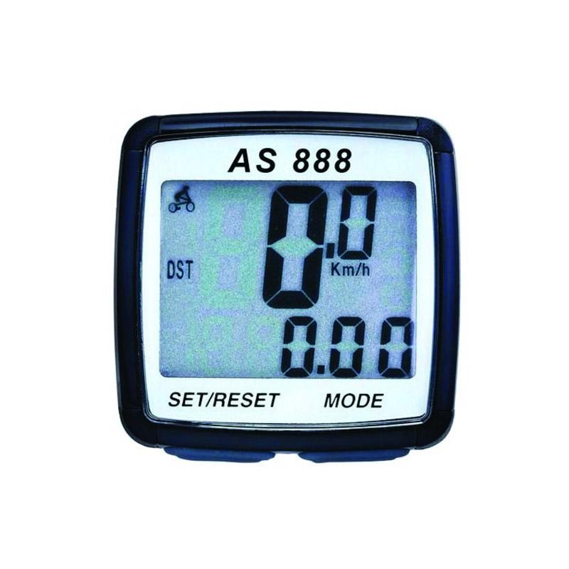 Vitezometru digital, 8 functii, ecran LCD, rezistent la ploaie, Negru 2021 shopu.ro