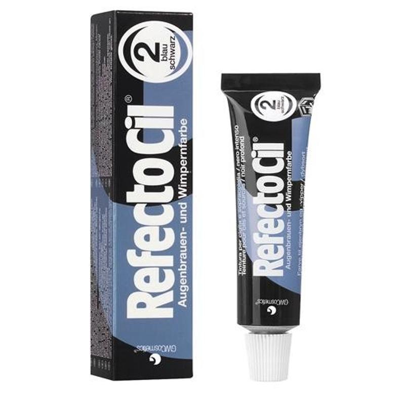 Vopsea de gene si sprancene RefectoCil, 15 ml, Black Blue 2021 shopu.ro