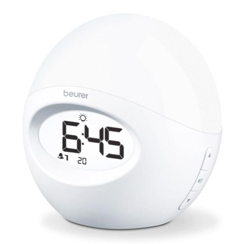 Ceas desteptator cu lampa Beurer, LCD, 10 memorii radio 2021 shopu.ro