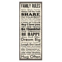 Sticker decorativ Regulamentul Familiei, 79 x 30.5 cm