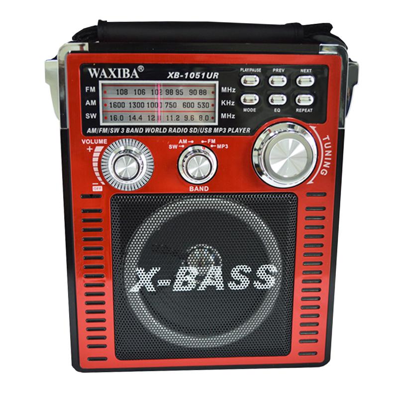 Radio MP3 portabil Waxiba XB-1051 UR, 3 benzi, Rosu 2021 shopu.ro