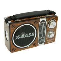 Radio portabil Waxiba XB-122URT, 3 benzi, Maro