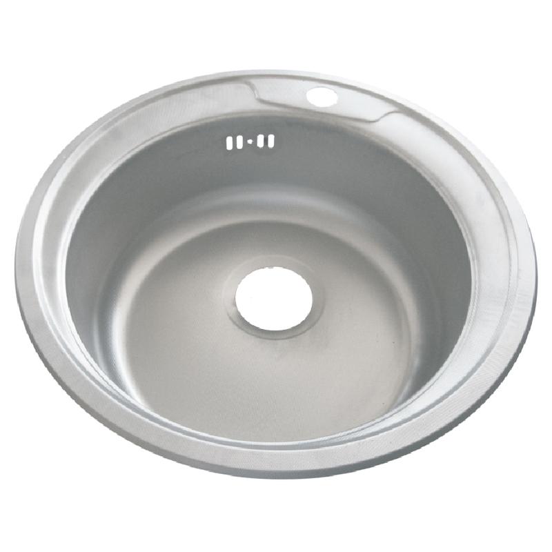 Chiuveta rotunda inox Zilan, 48 cm, design simplu 2021 shopu.ro