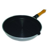 Tigaie grill Zilan, 28 cm, maner lemn