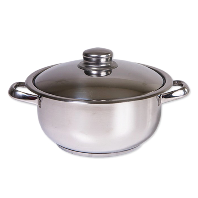 Oala inox Cocinera Zilan, 6 l, nr 24, capac inox