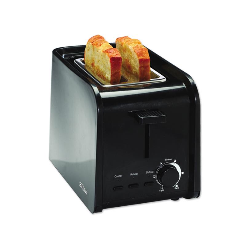 Toaster Zilan, 2 felii, 750 W, 7 nivele, Negru 2021 shopu.ro