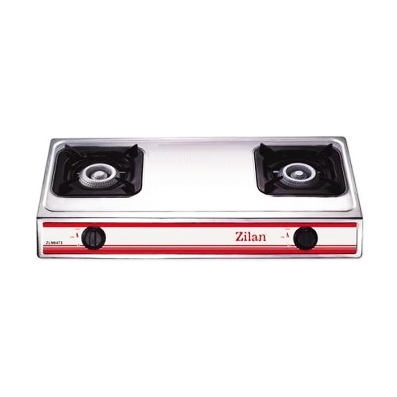 Aragaz inox Zilan, 2 arzatoare, Alb 2021 shopu.ro