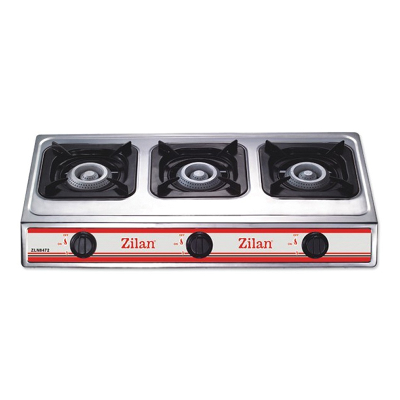 Aragaz inox Zilan, 3 arzatoare, Alb 2021 shopu.ro