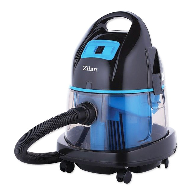 Aspirator cu filtrare umeda/uscata Zilan, 1400 W, Albastru