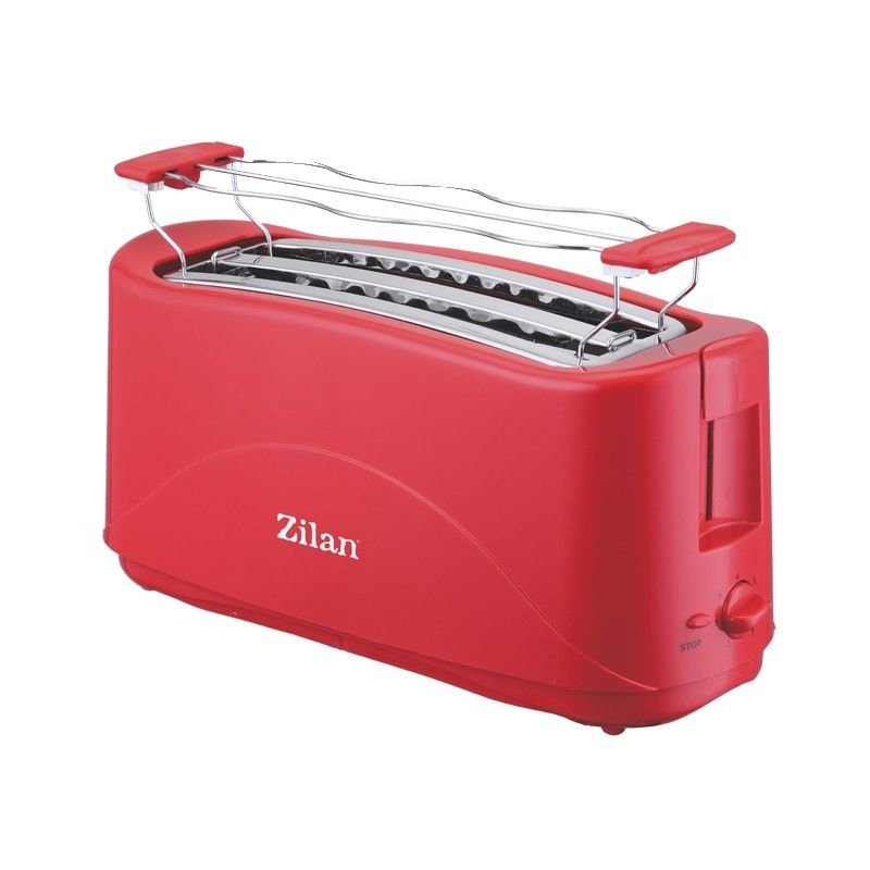 Prajitor de paine dublu Zilan, 4 felii, 1300 W, Rosu 2021 shopu.ro