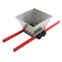 Zdrobitor manual pentru struguri si fructe, 85 x 55 x 34 cm, Argintiu/Rosu