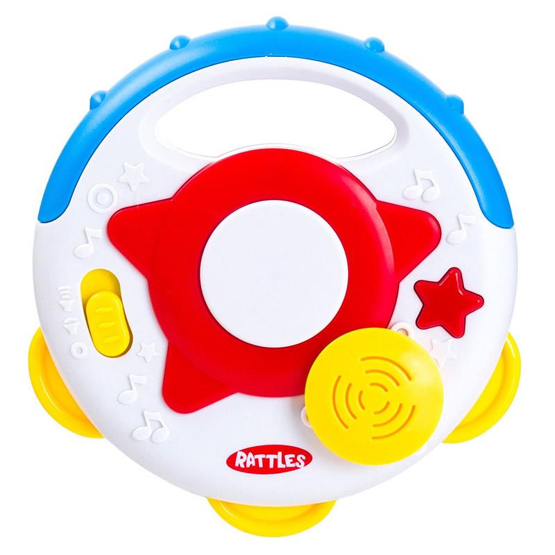 Zornaitoare pentru bebelusi Rattles, rotunda, lumini si sunete imagine