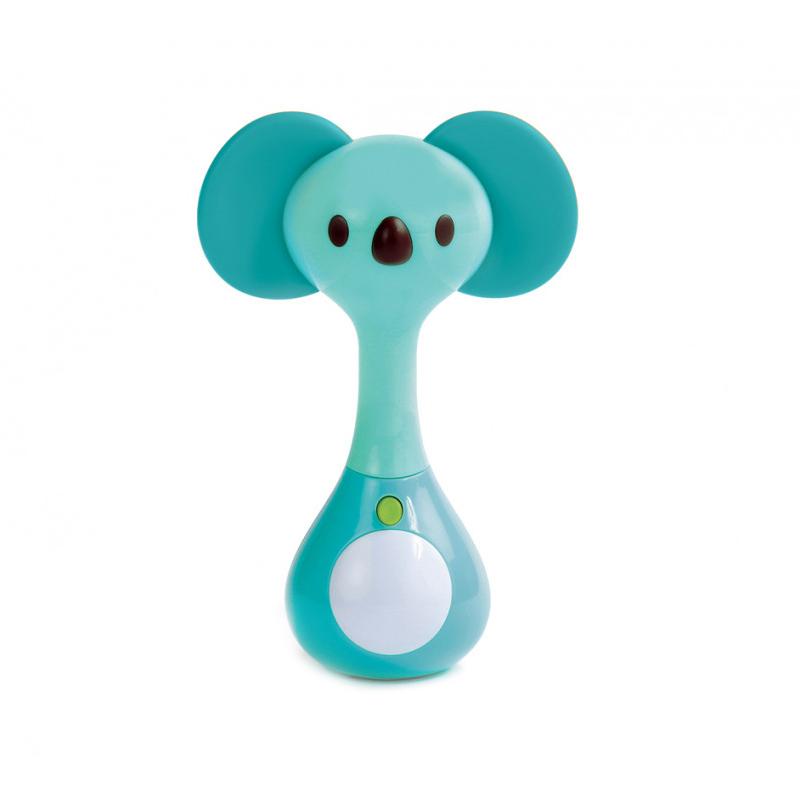 Zornaitoare muzicala multifunctionala Koala Ludi, 9 x 13.5 x 5.4 cm, TPE/ABS, 10 luni+, Turcoaz 2021 shopu.ro