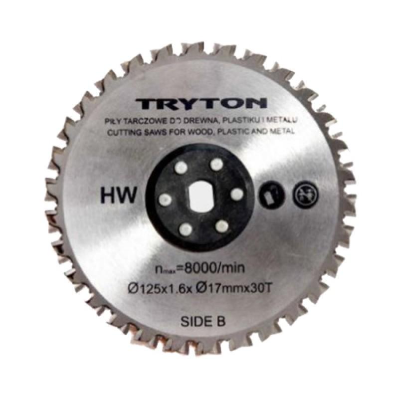 Disc pentru metal Tryton, diametru 125 mm, 30 dinti 2021 shopu.ro