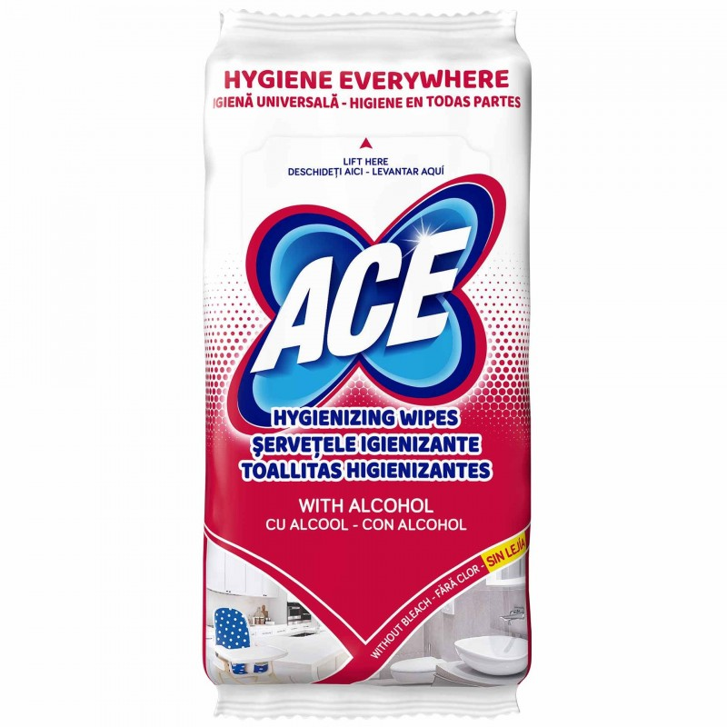 Servetele igienizante cu alcool Ace, 40 bucati shopu.ro