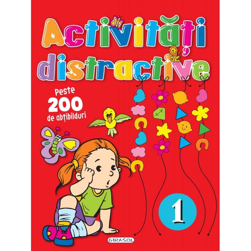 Carte pentru copii Activitati distractive 1 Girasol, 200 abtibilduri, 5 ani+ 2021 shopu.ro