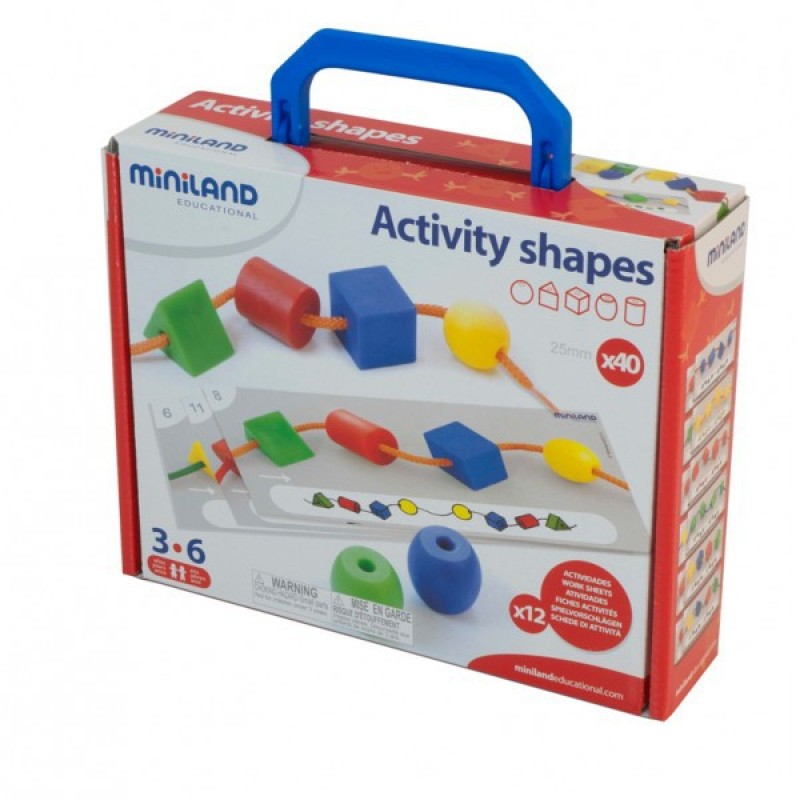 Activitati educative Miniland forme geometrice, 40 de piese 2021 shopu.ro