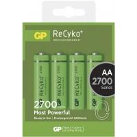 Set 4 acumulatori GP NiMH Recyko+, tip AA, 2700 mAh