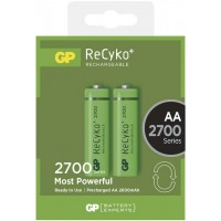 Set 2 acumulatori GP NiMH Recyko+, tip AA, 2700 mAh