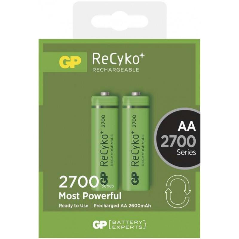 Set 2 acumulatori GP NiMH Recyko+, tip AA, 2700 mAh 2021 shopu.ro